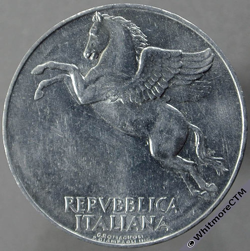 1949 Italy 10 Lire obv