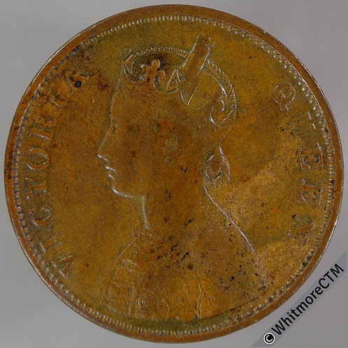 1862 British India Half Annas - S&W 4.151 Y8