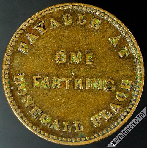 Unofficial Farthing Token Belfast 5410 Ferrar & Taggart Silk Mercers. Value