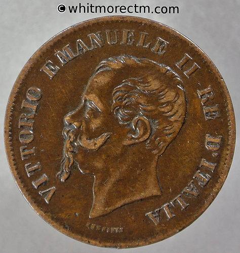 1861M Italy 5 Centesimi coin Y8