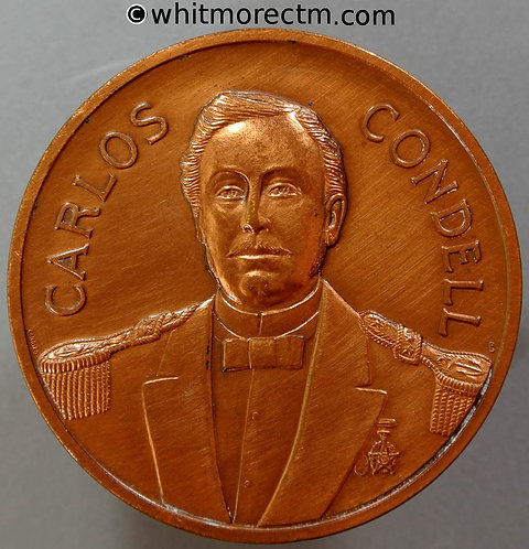 1979 Chile Centenary of the Pacific War Set of 3 Medals Carlos Condell 50mm Bronze Cased