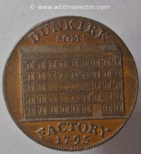 18th Century Halfpenny Somerset Dunkirk 108 1795 Fleece. Milled edge