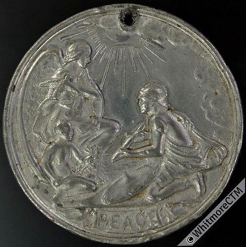 Peebles 1919 Peace Medal 41mm White metal - Warrior presents sword