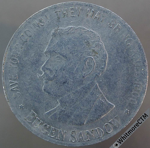 Bonus Check Token 29mm Eugen Sandow / This coin voucher counts as 1s/3d - Alum