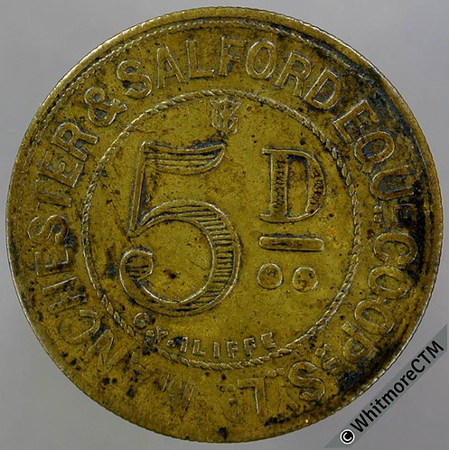 Co-Operative Society Token Manchester & Salford Equitable 26mm 5d Brass
