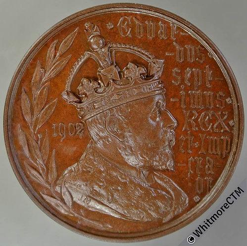 1902 Edward VII Coronation Medal 38mm B3797 By J.Moore. Bronze Thin Flan