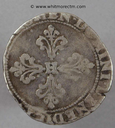 1583M (Toulouse) ½ Franc coin Henry III - Silver