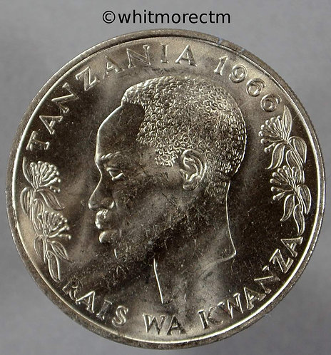 1966 Tanzania Shilling coin Y4