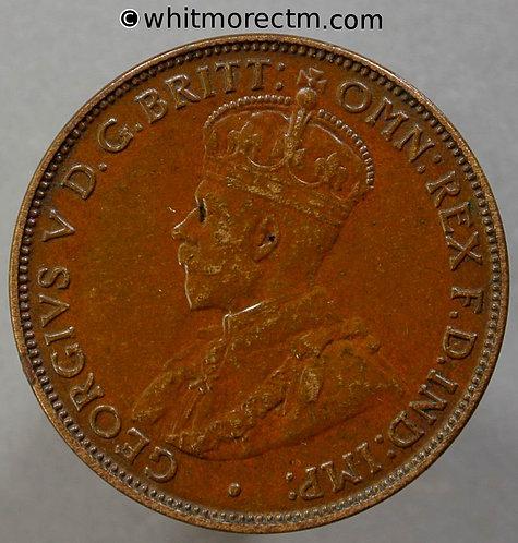 1917 Australia One Half Penny Y5 1917 I - obv