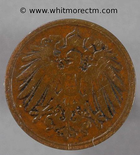 1893J Germany One Pfennig coin Y3 -  Rare
