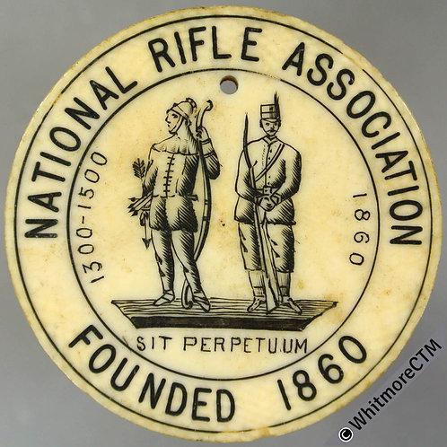 Ticket Pass Token 1905 National Rifle Association Life Member's Pass. Ivory