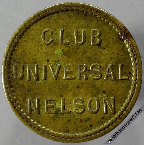 Nelson (Lancs) Inn / Pub Token Club Universal - Ornate 2D in wreath