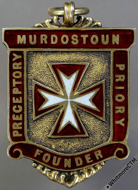 Murdostoun 1916 Founder's Badge 44x31mm Silver gilt enamelled