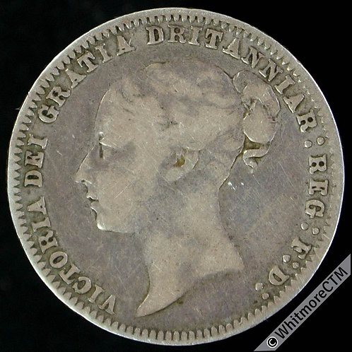 1878 Victoria Young Head Sixpence Die 6 Dritanniar error. Extremely rare