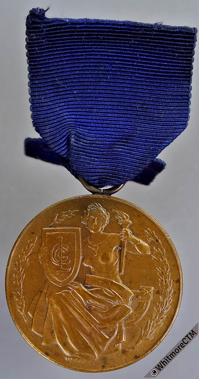 1912 Centenary of Gas Lighting Medal 35mm Bronze with suspender