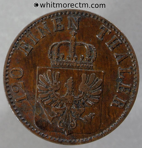 1863 Germany Prussia 3 Pfennig coin - C162a