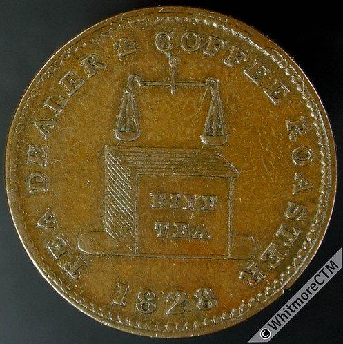 Unofficial Farthing Birmingham 910 1828 J.R.Seekings Edgbaston, Tea Dealer