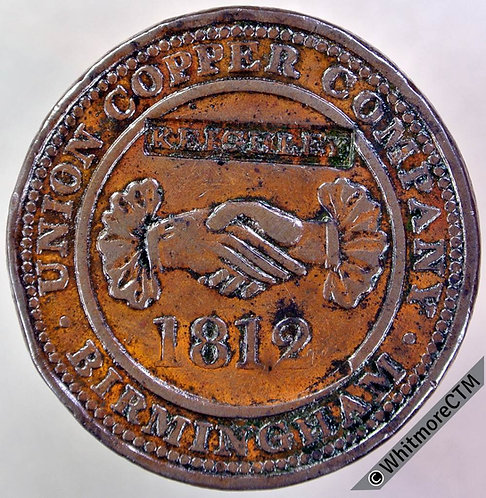 19th Century Penny Keighley 800 Countermarked 3 times Union Copper Co. (350)