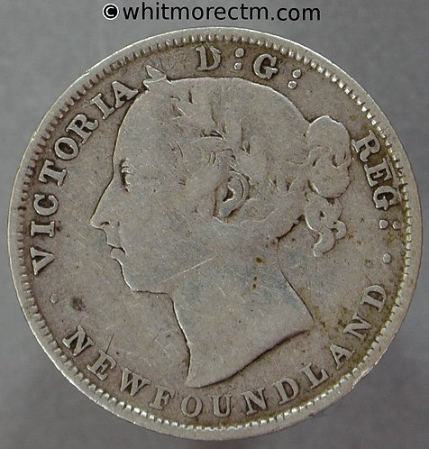 1894 Canada Newfoundland 20 Cent coin