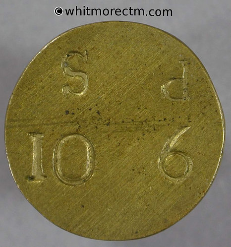 Coin Weight Token 19mm Plain incuse 10s 6d both sides
