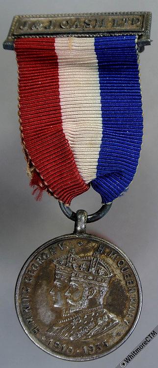 Coventry 1935 George V Jubilee Medal 26mm WE5781 J&J Cash Ltd. Silvered Bronze