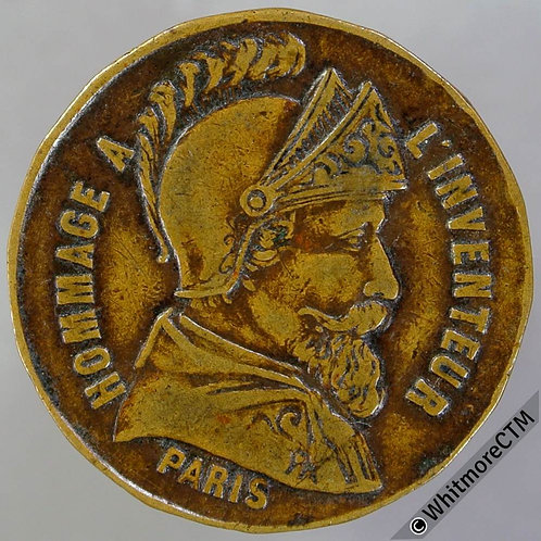 France Paris Crayon Mencin FG St Martin Token 24mm Brass