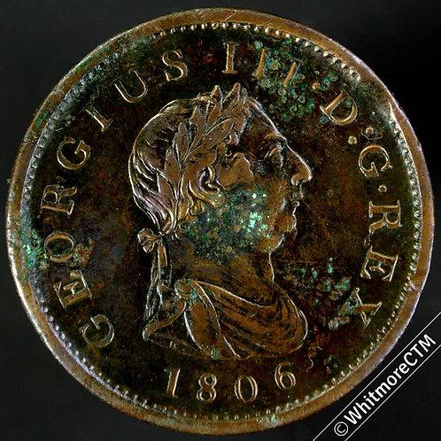 1806 George III Copper Penny - Incuse hair curl