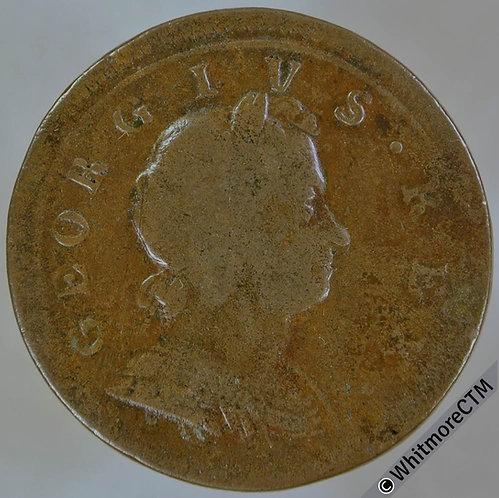 1720 British Copper Halfpenny - George I