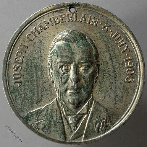 Birmingham 1906 Joseph Chamberlain Medal 39mm 30 years an M.P - W.M
