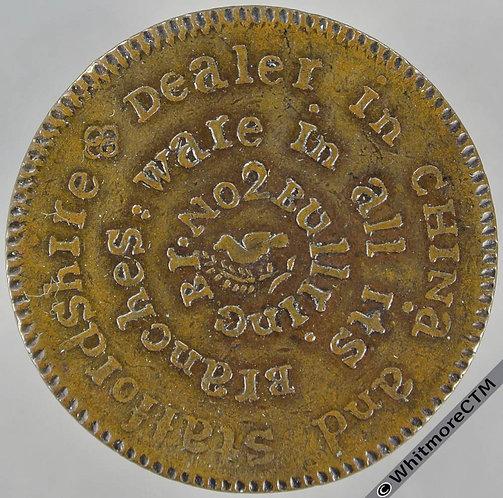 18th Century Halfpenny Birmingham 128 Hallan's. no trace of the usual die break