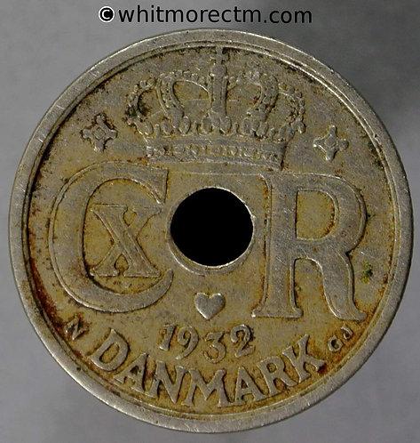 1932 Denmark Y50 25 Ǿre coin