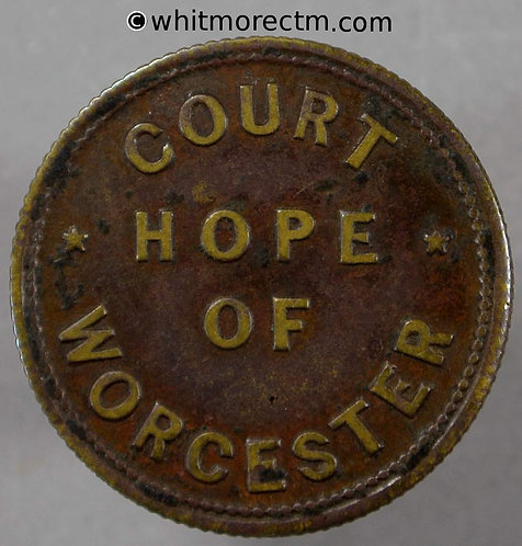 Worcester Inn / Pub Token Court Hope (Foresters) / 3D incuse