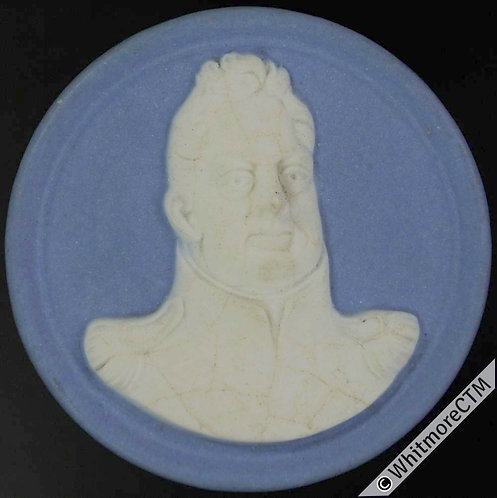Kings of England Series Medal 41mm William IV 6mm thick ceramic Jasperware style