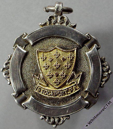 Stockport 1912 Football Association Cup Runners-up Medal 32mm Fattorini - Silver