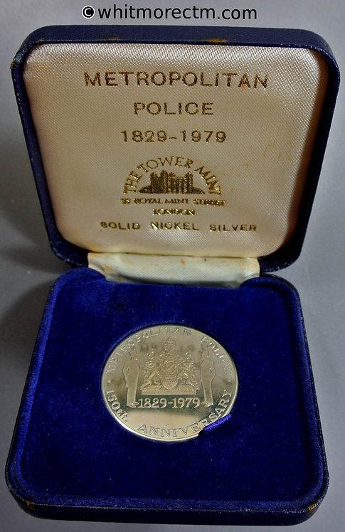 London 1979 Metropolitan Police 150th Anniversary Medal 38mm Cupro-nickel. Cased