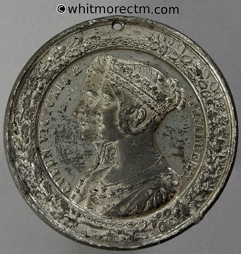 Manchester & Salford 1851 Royal Visit Medal 45mm By Allen & Moore. W.M. Pierced