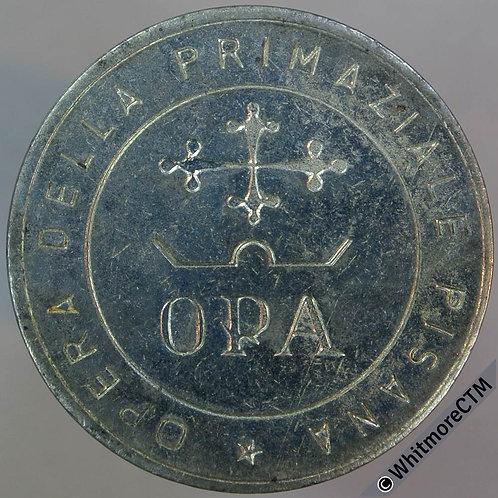 Italy Opera Della Primaziale Pisana-Opa Token 27mm - Plated iron