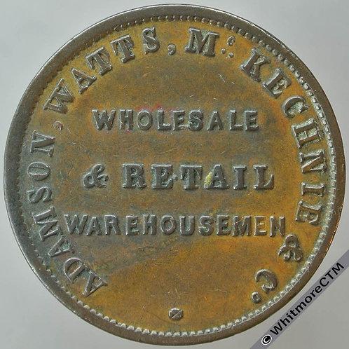 Australia Melbourne Halfpenny token 1855 Adamson Watts Mckechnie & Co