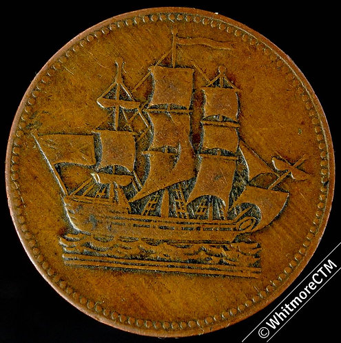 Canada  B997 Halfpenny Ships Colonies & Commerce - No H - Long Uneven waves.