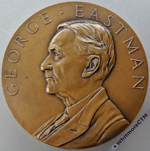 Kodak George Eastman Loyal Service Medal 76mm By Pinches. Bronze