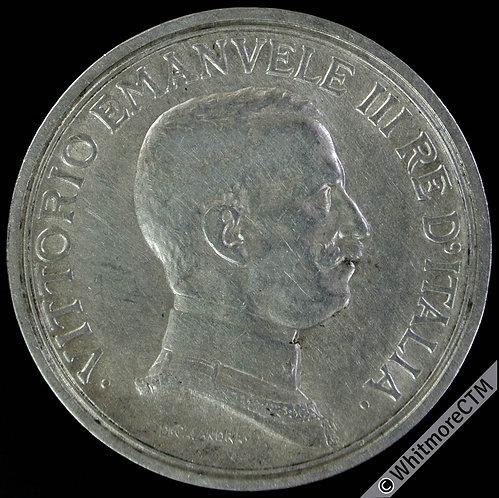 1915 Italy 2 Lire Silver - Y51