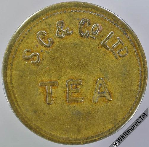 Unidentified Refreshment Token S.C. & Co. Ltd. - Tea. 26mm Uniface