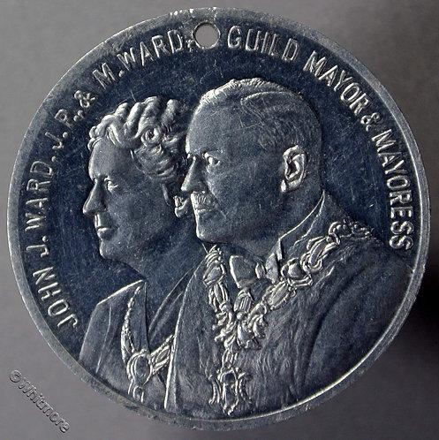 Preston Lancashire 1952 Guild of Merchants Medal 32mm Aluminium