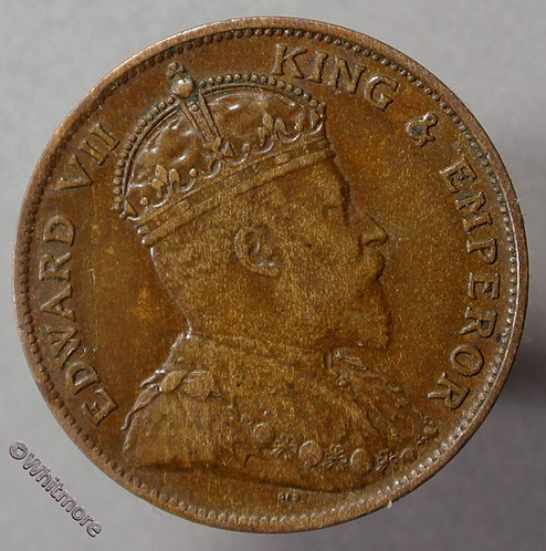 1909 Jersey One Twenty Fourth of a Shilling coin obv