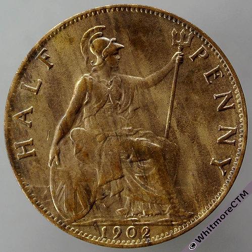 1902 British Bronze Halfpenny - Edward VII