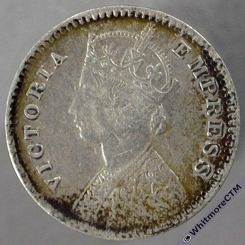 1886C India Two Annas S&W 6.390 obv