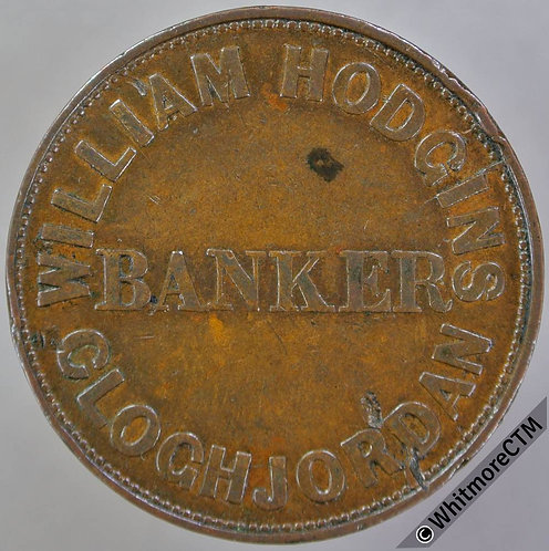Australia 19thC Penny token  Ireland 1858 William Hodgins Cloughjordan.