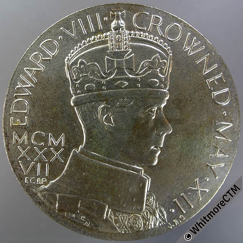 1937 Intended Coronation of Edward VIII Medal 57mm M215c Original strike 4.8mm