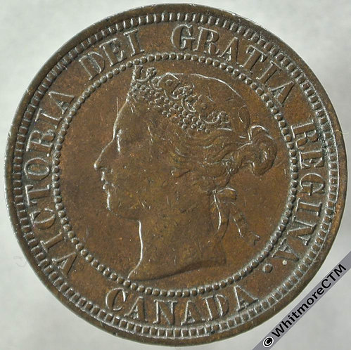 1876 Canada One Cent obv 1876H