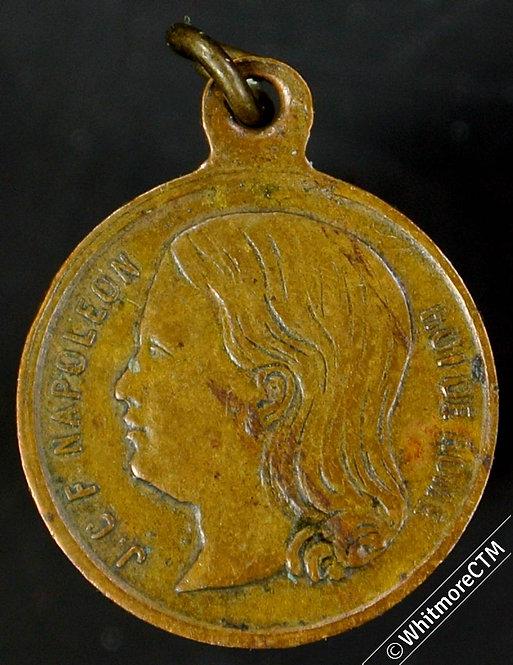 France 1867  Inauguration De La Place du Roi de Rome Medal 14mm Bronze